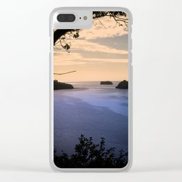 Thatchers Rock and Hope's Nose At Sunset Clear iPhone Case