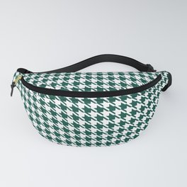 PreppyPatterns™ - Modern Houndstooth - Hunter Green and White Fanny Pack