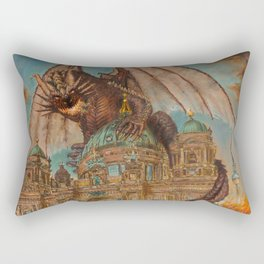 Attack on the Berliner Dom Rectangular Pillow