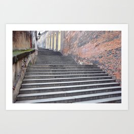 Steps, Prague Castle. Art Print