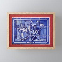 fado folk music art tile Framed Mini Art Print