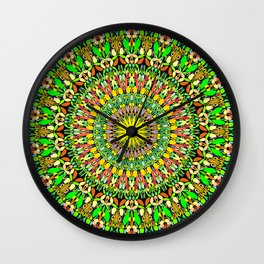 Floral Sun Garden Mandala Wall Clock