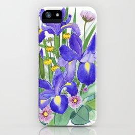 Iris Ikebana iPhone Case