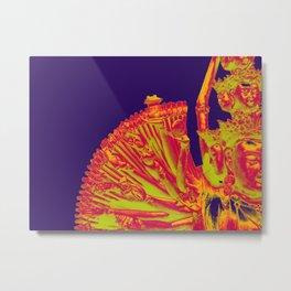 Quan Yin-Purple Metal Print