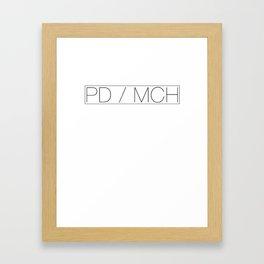 PD MCH Framed Art Print
