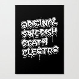 Original Swedish Death Electro #1 Canvas Print