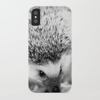 hedgehog iPhone & iPod Cases featuring hedgehog by Bunny Noir