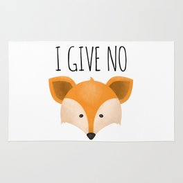 I Give No Fox Rug