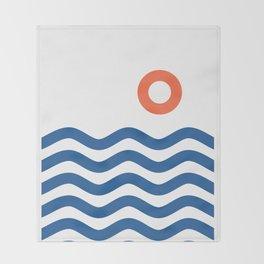 Nautical 02 Seascape Throw Blanket