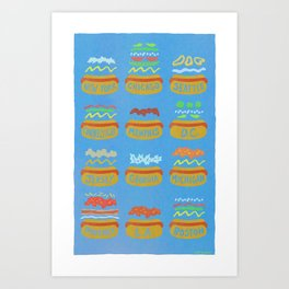 Hot Dogs! Re-do Art Print