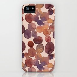 Dots And Scribbles iPhone Case