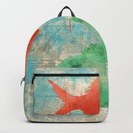 Red and Green Fish - watercolors Backpack