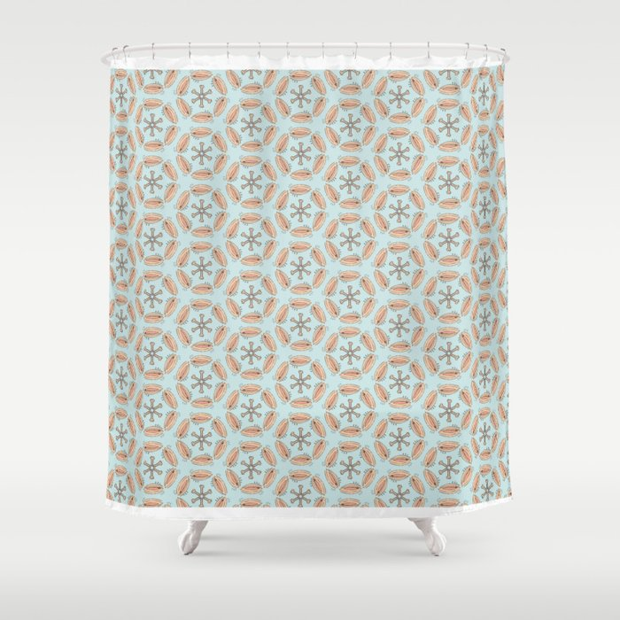 Ps Vs In Hexagons Mini Print Shower Curtain By Thirdgirl