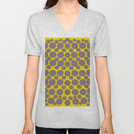 Sunshine and floral in mind for decorative delight Unisex V-Neck