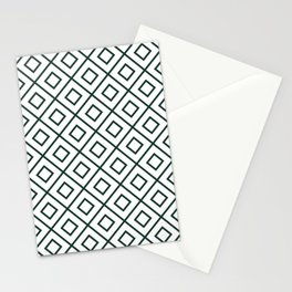 Forest Green Diamond Pattern 2 Stationery Cards