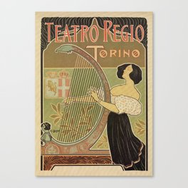 Art nouveau Royal Opera House Turin Torino Canvas Print