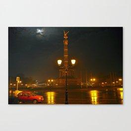 MOON-LIGHT BERLIN - Siegessaeule - Tiergarten  Canvas Print