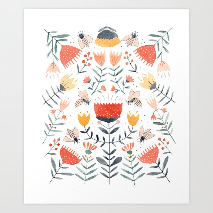 Bee Well Art Print By Juliannaswaney Society6