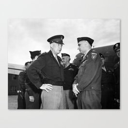 Eisenhower and General Lucius Clay - Berlin - 1945 Canvas Print