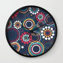 Flowers of Circles Wall Clock