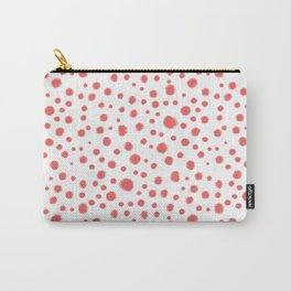 abstract dots coral and white modern trendy basic pattern print nursery pattern Carry-All Pouch