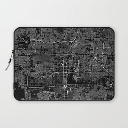 Las Vegas Black Map Laptop Sleeve