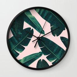 Banana Leaves - Cali Vibes #1 #tropical #decor #art #society6 Wall Clock