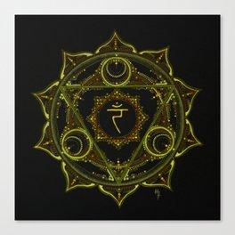 Solar Plexus Mandala Canvas Print