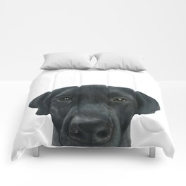 Labrador New, Acrylic painting by miart Comforters