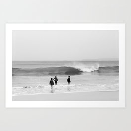 children in the sea Art Print