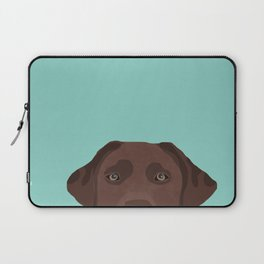 Chocolate Lab dog breed portrait pet art dog lover gifts labrador retriever Laptop Sleeve