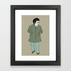Fall, man Framed Art Print