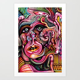 Inner Squirmoil Art Print
