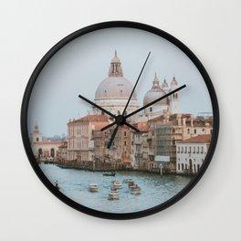 Italy Photography - A River Through Venice Wall Clock