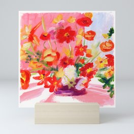 DREAMING OF FLOWERS Mini Art Print