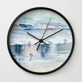 On The Beach Wall Clock