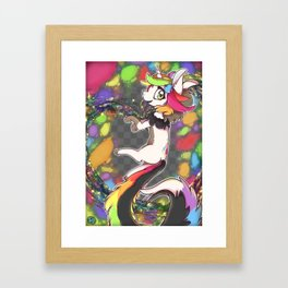 Rainbow Unicorncat Framed Art Print