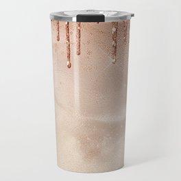 Copper Glitter Rain Travel Mug