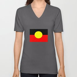 Aboriginal Flag T Shirt Unisex V-Neck