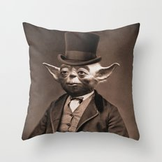 Portrait of Sir Yoda Throw Pillow