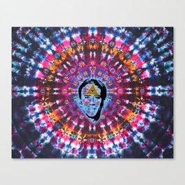 Nicolas Cage Third Eye - Tie Dye Shambhala Canvas Print