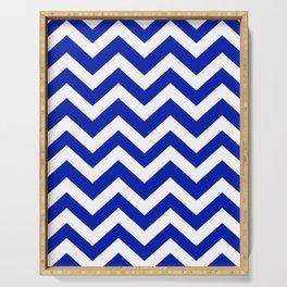 Blue (Pantone) - blue color - Zigzag Chevron Pattern Serving Tray