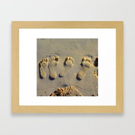on your shoes Framed Art Print