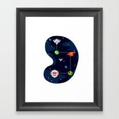 Overworld: Space Framed Art Print