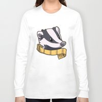 hufflepuff Long Sleeve T-shirts featuring Hufflepuff by Clair C