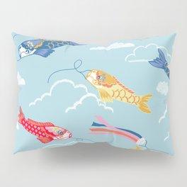 Koi carp kite day Japanese print pattern Pillow Sham