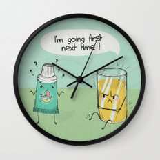 I'm going first Wall Clock