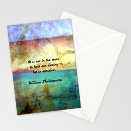 William Shakespeare Inspirational Quote About Destiny Stationery Cards