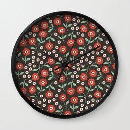 Floral Uno Wall Clock