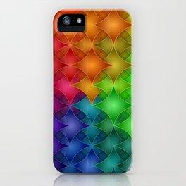 Rainbow Star Pillows Pattern iPhone Case